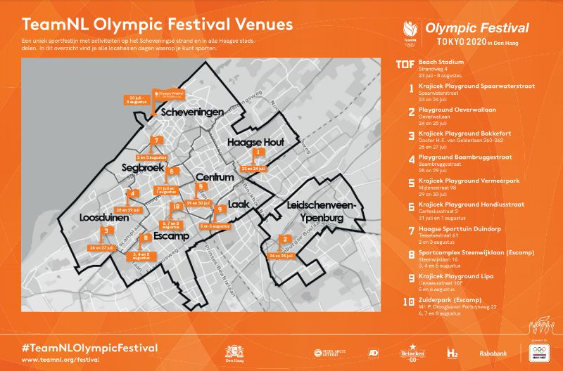 TeamNL Olympic Festival Venues